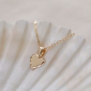 Dainty Heart Necklace | 18k Gold Filled